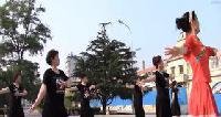 大连市旅顺口区太阳沟光荣街道媛梦舞蹈队广场舞表演第一场